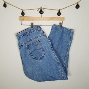 Vintage Chic High Rise Mom Jeans Ankle Capris 18W